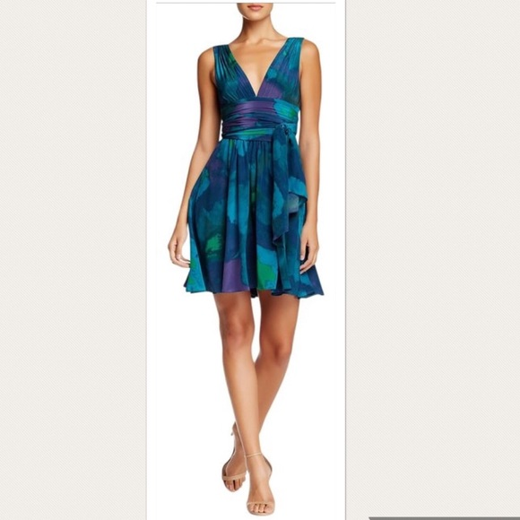 35cd0b0a4939 Halston Heritage Dresses | Midnight Water Mirage Print Dress | Poshmark